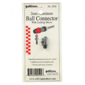 Sullivan Aluminum Ball Connector w/Sleeve 2mm Green