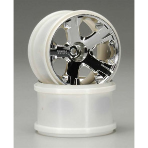 Traxxas Wheels 2.8 Chrome Rear Jato 3.3