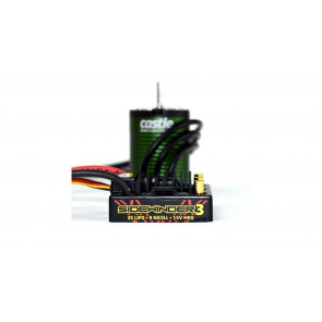 Castle Creations SV3 Sidewinder 12V Waterproof ESC with 1406-7700Kv Sensored Motor Combo
