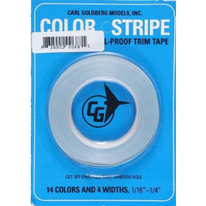 CARL GOLDBERG COLOR STRIPE TRIM TAPE ORANGE 1/16