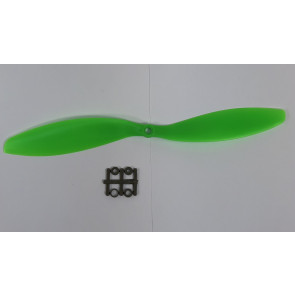 GEMFAN 11 x 4.7 Reverse ABS/Glass Fiber Propeller, Green