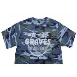 GRAVES RC HOBBIES BLUE CAMO T-SHIRT