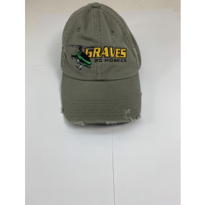 GRAVES RC HOBBIES Helicopter Hat, Distressed, Grey