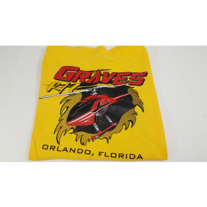 Graves RC Hobbies Helicopter T-Shirt, Yellow