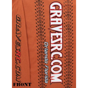 Graves RC Hobbies Long Sleeve Car Shirt, Dark Orange