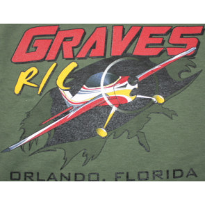 Graves RC Airplane T-shirt Green - 2XL