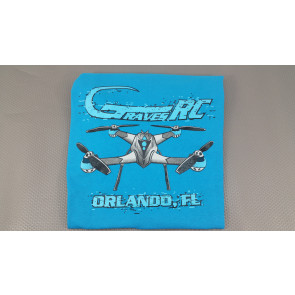 Graves RC Hobbies Quadcopter T-Shirt, Sapphire