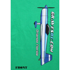 Graves RC Hobbies Airplane T-Shirt, Green