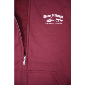 GRAVES RC HOBBIES Zip Up Hoodie, Red