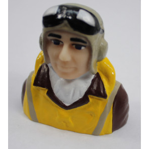 1/8 Scale WWII Pilot with Vest, Helmet, Goggles
