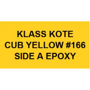 KLA166 KLASS KOTE PART A EPOXY CUB YELLOW 8 OZ.