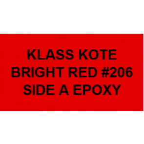 KLA206 KLASS KOTE PART A EPOXY BRIGHT RED 8 OZ.