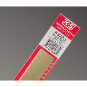 K&S Brass Strip .016x3/4""