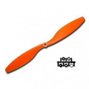 GemFan 10x4.5R Prop, Orange, Reverse Rotation