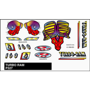 PineCar Turbo Ram Stick-on Decal