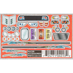PineCar Racer Accessories Dry Transfer