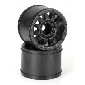 "Pro-Line F-11 3.8"" Black 1/2"" Offset 17mm Wheels (2)"