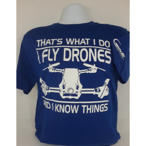 GRAVES RC HOBBIES PILOT DRONE SHIRT ROYAL SMALL