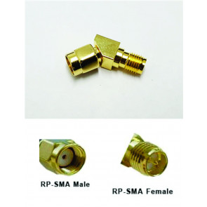 Graves RC RP-SMA Male to RP-SMA Female 45 Degree Angle Connector