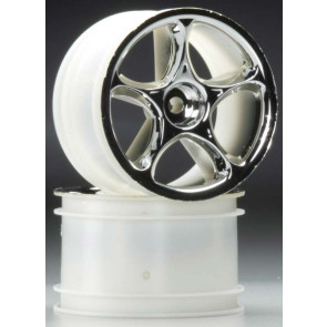 Traxxas Tracer Rear Wheels Chrome Bandit (2)