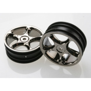 TRAXXAS WHEELS BLACKK  CHROME 2.2 TRACER