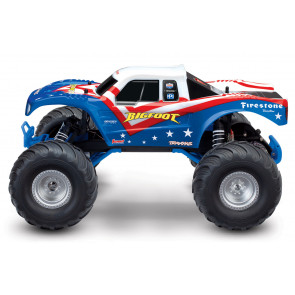 TRAXXXAS BIGFOOT 1/10, RED WHITE & BLUE