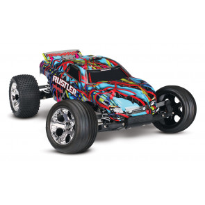 Traxxas Rustler RTR w/XL-5 ESC HAWAIIAN Blue/Red