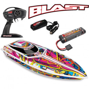 "TRAXXAS Blast 24"" High Performance RTR Race Boat - Swirl"