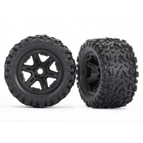 Traxxas Tires & Wheels Assembled with Foam Inserts - Black (2)