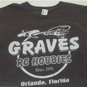 GRAVES RC HOBBIES BROWN RETRO TEE XX-LARGE