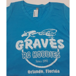 GRAVES RC HOBBIES TEAL RETRO LADIES XXL